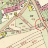 Veselov - Angerův kříž | Angerův kříž při křižovatce cest na výřezu císařského otisku mapy stabilního katastru vsi Veselov (Passnau) z roku 1841