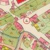 Žlutice - kaple Nejsvětější Trojice | původní barokní kaple Nejsvětější Trojice uprostřed křižovatky ulic Nádražní a Mlýnská na císařském otisku mapy stabilního katastru města Žlutice (Luditz) z roku 1841