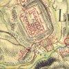 Žlutice - socha Panny Marie | socha Panny Marie u Žlutic na historické mapě 1. vojenského josevského mapování z let 1764-1768