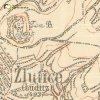 Žlutice - svatý obrázek | pobožnost na výřezu mapy 3. vojenského mapování z konce 19. století