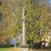 Sedlec - sloup se sochou Panny Marie | barokní mariánský sloup v Sedleci - říjen 2010