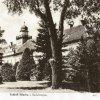 Štědrá - zámek | zámecká budova v parku na pohlednici z roku 1940