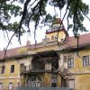 Štědrá - zámek | zřícený rizalit jižního průčelí zámku - říjen 2009