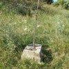 Bražec - Würknerův kříž | zdevastovaný Würknerův kříž - červenec 2015
