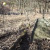 Bražec - železný kříž | torzo železného kříže u bývalého Horního mlýna u Bražce - březen 2017
