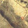 Bochov - Lohmarterlský kříž | starší kříž na bývalém rozcestí nad Bártovým mlýnem u Bochova na mapě 1. vojenského josefského mapování z let 1764-1768