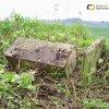 Protivec - Scherzerův kříž | objevený podstavec bývalého Scherzerova kříže - květen 2010