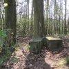Protivec - Geigerský kříž | rozvalený podstavec Geigerského kříže před obnovou - duben 2011