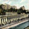 Karlovy Vary - Mlýnská kolonáda | Mlýnská kolonáda na kolorované pohlednici z roku 1907