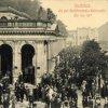 Karlovy Vary - Mlýnská kolonáda | prostor před Mlýnskou kolonádou na pohlednici z roku 1914