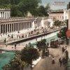 Karlovy Vary - Mlýnská kolonáda | Mlýnská kolonáda na pohlednici z doby před rokem 1914