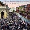Karlovy Vary - Mlýnská kolonáda | prostor před Mlýnskou kolonádou na pohlednici z roku 1925