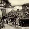 Karlovy Vary - Mlýnská kolonáda | prostor před Mlýnskou kolonádou ve 2. polovině 20. století