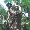 Chyše - socha sv. Šebestiána | barokní socha sv. Šebestiána - červen 2012