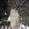Jeřeň - křížový kámen | přední strana křížového kamene - únor 2011