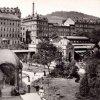 Karlovy Vary - Sadová kolonáda | promenáda u bývalého Blatenského pavilonu v roce 1897