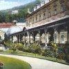 Karlovy Vary - Sadová kolonáda | kolonáda na kolorované pohlednici z počátku 20. století