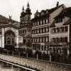 Karlovy Vary - litinová Vřídelní kolonáda | litinová Vřídelní kolonáda na polygrafii z roku 1895