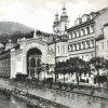 Karlovy Vary - litinová Vřídelní kolonáda | Vřídelní kolonáda na fotografii z doby před rokem 1939