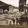 Karlovy Vary - empírová Vřídelní kolonáda | Vřídelní kolonáda na fotografii z doby před rokem 1878