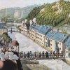 Karlovy Vary - Vřídlo | zastřešení Hygieina pramene v době kolem roku 1820