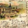 Karlovy Vary - Císařské lázně (Lázně I) | Císařské lázně na kolorované pohlednici z roku 1898