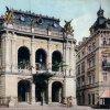 Karlovy Vary - Městské divadlo | Městské divadlo na kolorované pohlednici z roku 1912
