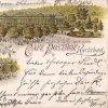Karlovy Vary - Poštovní dvůr | Poštovní dvůr na kolorované pohlednici z roku 1898