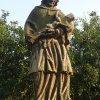Vladořice - socha sv. Jana Nepomuckého | vrcholová socha sv. Jana Nepomuckého - červenec 2015