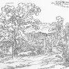 Karlovy Vary - Ondřejský hřbitov | náhrobek architekta Fridricha Gillyho na Ondřejském hřbitově na skice Karla Friedricha Schinkela z roku 1801
