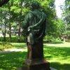 Dalovice - busta Karla Theodora Körnera | zadní strana pomníku - červen 2011