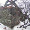 Radošov - kaple | pozůstatky kamenné kaple na katastru Radošova v roce 2004