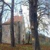 Bukovina - kaple sv. Michaela | zchátralá kaple sv. Michaela od jihovýchodu - listopad 2014