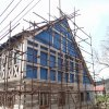 Horní Blatná - městský dům čp. 29 | severovýchodní hrázděná stěna - duben 2014