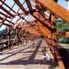 Radošov - dřevěný krytý most |