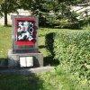 Jáchymov - pomník osvobození | přední strana pomníku osvobození v Jáchymově - říjen 2013