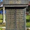 Boží Dar - pomník obětem 1. světové války | vysekaná jména padlých na pomníku - říjen 2013
