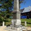Boží Dar - pomník obětem 1. světové války | restaurovaný pomník padlým v Božím Daru - říjen 2013