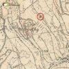 Dlouhá - kaple Nejsvětější Trojice | kaple Nejsvětější Trojice na Plešivci na toposekci 3. vojenského mapování ze 30. let 20. století