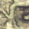 Záhořice - hradiště Vladař | hradiště Vladař se zakresleným opevněním na výřezu z mapy 2. vojenského mapování z 1. poloviny 19. století