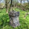Vladořice - železný kříž | kamenný podstavec kříže - duben 2011