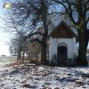 Krásno - kaple Panny Marie Sněžné | vstupní severovýchodní průčelí zchátralé kaple Panny Marie Sněžné v Krásně - prosinec 2013