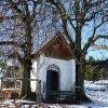 Krásno - kaple Panny Marie Sněžné | zchátralá kaple od severovýchodu - prosinec 2013