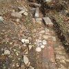 Čistá - kostel sv. Michaela Archanděla | sonda zjišťovacího archeologického výzkumu pozůstatků kostela sv. Michaela Archenděla v Čisté - září 2014