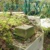 Šemnice - socha sv. Jana Nepomuckého | sokl podstavce u mostu přes Ohři - září 2014