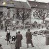 Žlutice - Polsterův dům | dům čp. 139 a 140 na náměstí ve Žluticích během prvomájových oslav v roce 1948