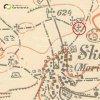 Skoky - železný kříž | železný kříž na rozcestí nad vsí Skoky na mapě Topografické sekce III. vojenského mapování ze 40. let 20. století
