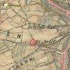 Horní Slavkov - kaple sv. Josefa | Velká kaple sv. Josefa u Horního Slavkova na mapě 3. františko-josefského vojenského mapování z let 1877-1880