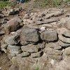 Bražec - hrad Kostelní Horka | odhalené konstrukce zaniklého hradu na Kostelní Horce během revizního archeologického výzkumu - červenec 2015