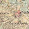 Beranovka - kaple Panny Marie | obecní kaple Panny Marie na okraji vsi Beranovka na mapě 3. vojenského františko-josefského mapování z roku 1878